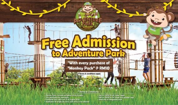 FREE ADMISSION TO ADVENTURE PARK